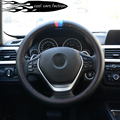 Brand New Carbon fiber cloth Car Steering Wheel Cover for BMW e46,e39,e90,e36,e60,f30,f10,x5 e53,e34,e30,m3,x1,X3, X6car-styling
