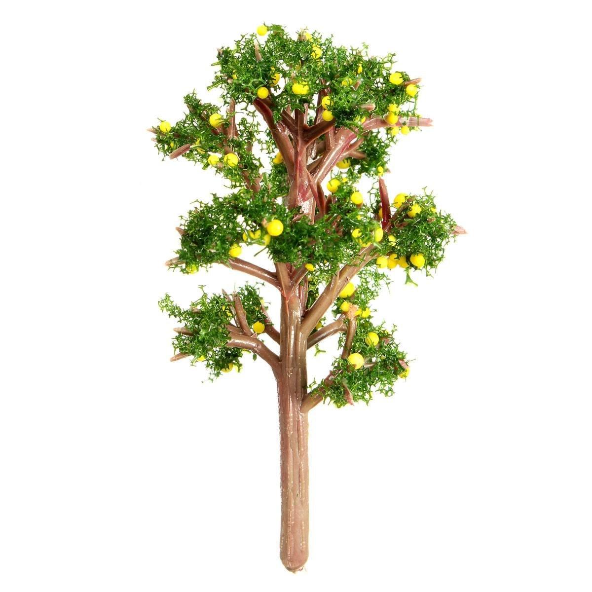 HGHO-Miniature Emulation Orange Tree Moss Bonsai Micro Landscape DIY Craft Garden Ornament