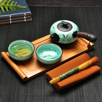 Celadon Cup A Pot Of Two Quik 2 Cups Of Tea Set Outdoor Travel Bag With