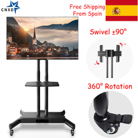 TV Wall Mount Bracket Mobile TV Cart Floor Stand Mount Home Display Trolley for 32 65 TV Mobile Cart TV Holder with Audio Shelf