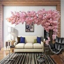 Искусственные вишневые деревья большой модель дерева Сакура большой Искусственный Свадебные украшения для деревьев супер большой 3 м высокий