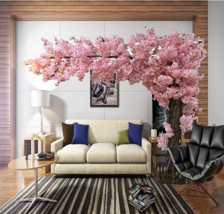 Cerejeiras artificiais Grande simulação sakura árvore grande árvore artificial decoração de Casamento super grande 3 M alta