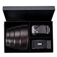 Hi Tie Luxury Designer Mens Formal Buckle Belt Soft Brown Leather Belts for Men Pants Brand Business Office Belt Waistband Strap