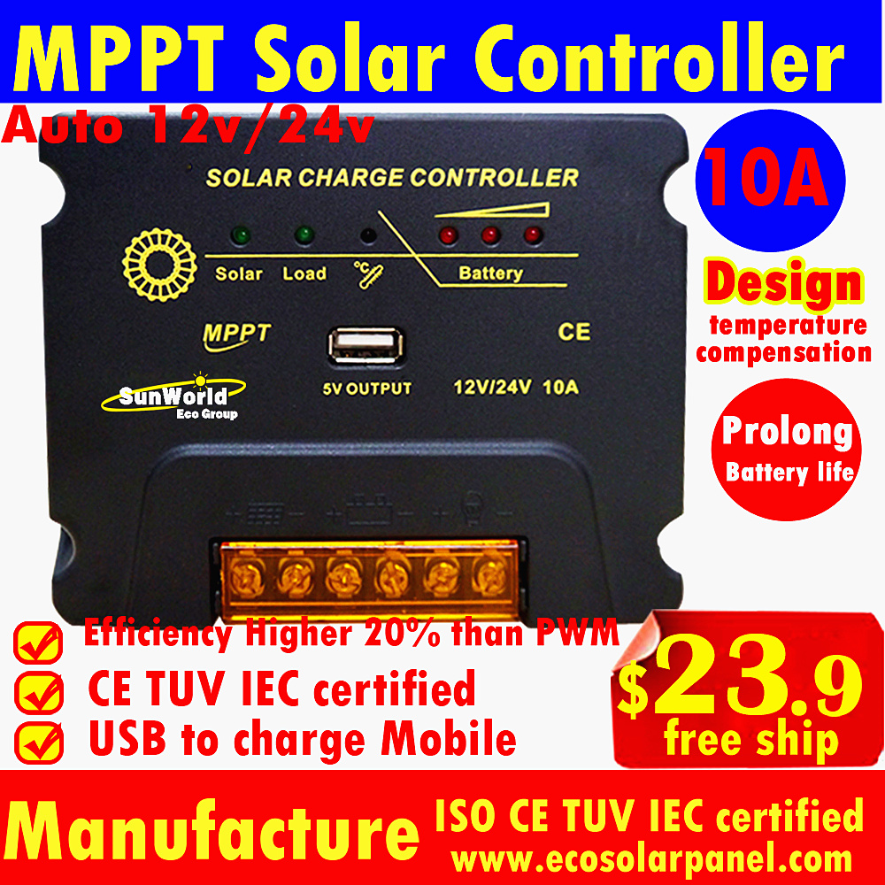 Detail Feedback Questions About 10a 20a Mppt Solar Charge Controller Pwm Street Light 12v 24v Autoswitch Panel Auto Cells Panels Battery Charger Regulator With Usb 5v
