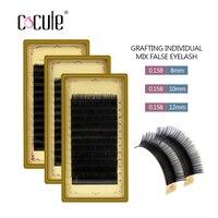 Cocute Professional B Curl Black Glossy Thickness Mink Material Eyelashes Individual False Eyelash Extension