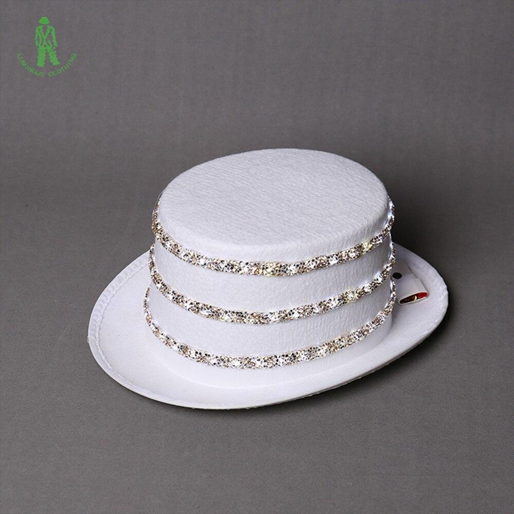 Besplatna dostava LED rasvjeta šljokice Hat Hop Jazz Kape Cap Klub - Za blagdane i zabave - Foto 4