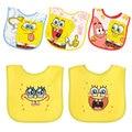 9 style SpongeBob Baby Bibs Cotton Newborn Waterproof infant towel Saliva Burp Cloths Feeding babeiro 5 pcs a lot