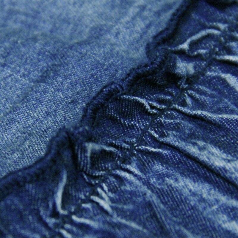 Autumn Winter Skirts Women Clothing Hollow Stitching Denim Skirt