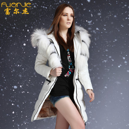 2016 new hot winter Warm Thicken woman Down jacket Coats Parkas Outerwear Hooded Raccoon Fur collar long plus size Slim High end цена 2016