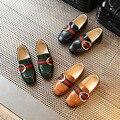Meninos shoes primavera modelos maré de couro de pele brilhante shoes meninos meninas crianças sneakers crianças casual shoes preto