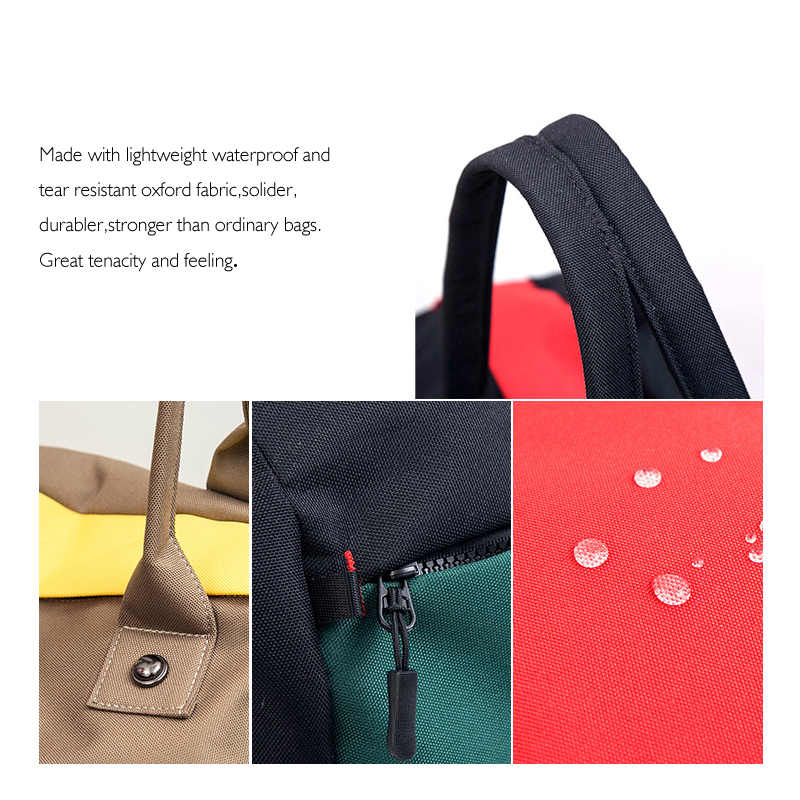 YIFANGZHE Fashion Waterproof Oxford Overnight Bag Ladies Women Weekender Bag Carry On Travel Duffel Bag