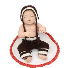 22 Inch Full Silicone Vinyl Reborn Baby Doll Sleeping Newborn Boy Doll Toy Christmas Birthday Gift