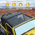 Сетчатый тент Бикини Топ УФ Защита солнцезащитный чехол для Jeep Wrangler TJ 1997-2006