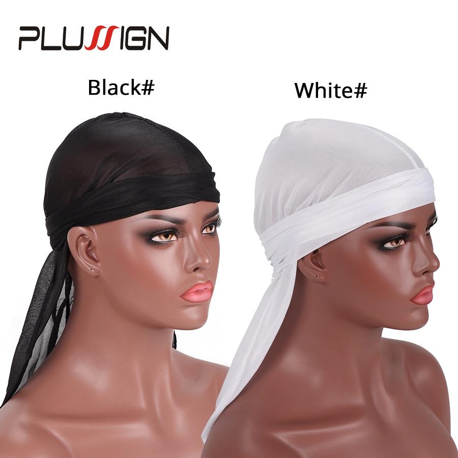 6a83631b50d Fashion Women Silk 2018 Men Silky Durag Hair Loss Head Wrap Cap Summer  Bandannas Doo Rag Turban Hat Hair Accessories 6Pcs-in Hairnets from Hair  Extensions ...