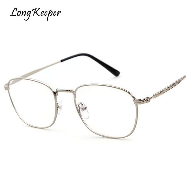 a04651d8af 2018 New Hot Sale Metal Eyeglasses For Women Frames Boys Girls Eyeglasses  Oval Silver Frame Glasses Frames Gafas By Long Keeper