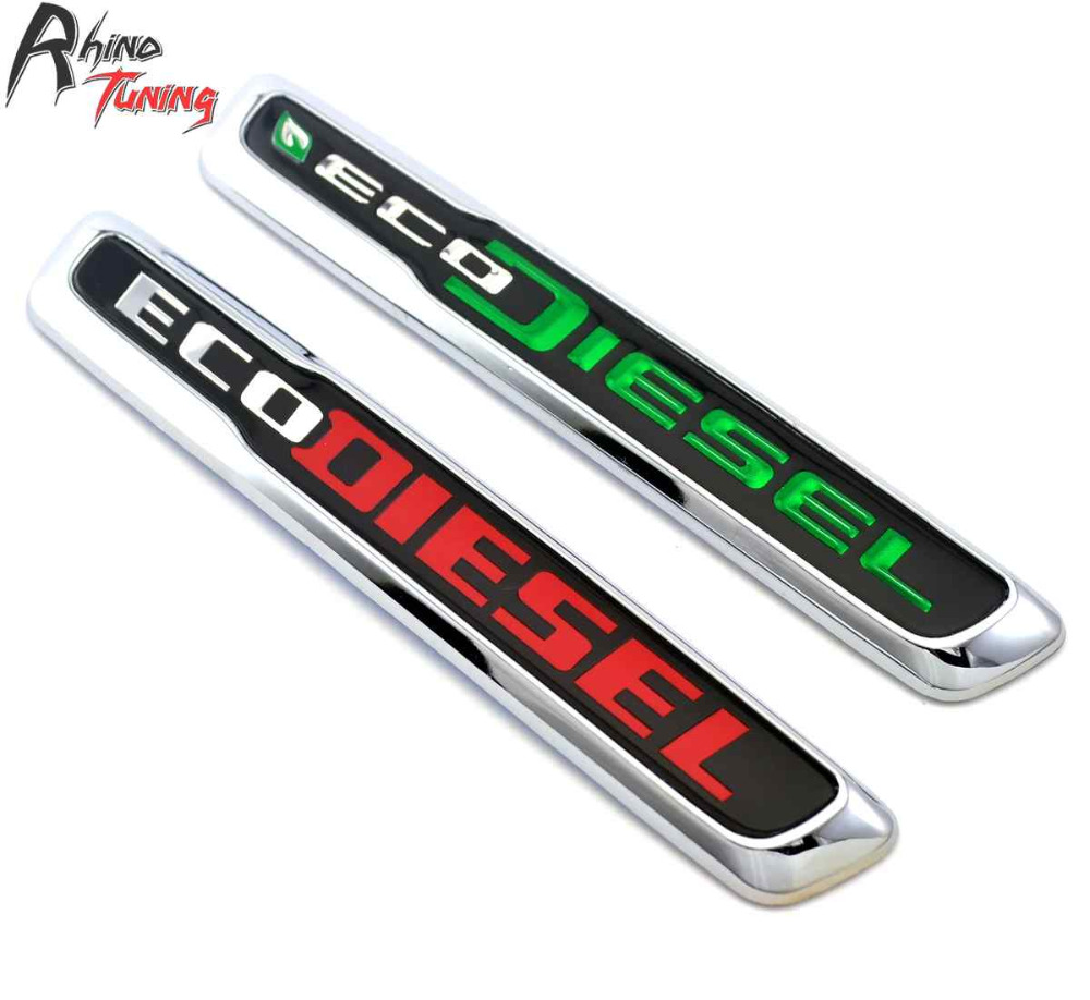 Rhino Tuning ECO DIESEL Chrome Auto Emblem Nameplate Car Styling Badge For New Mopar 2014-2016 RAM 1500 3.0L Sticker 20306 dandkey 2 buttons remote key shell fit for honda accord civic crv pilot fit replacement fob 2 btn key case