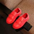 2017 Spring Autumn Simple Design Children Sneakers Solid Red White Color Unisex Boys Girls Shoes PU Leather Casual Kids Shoes