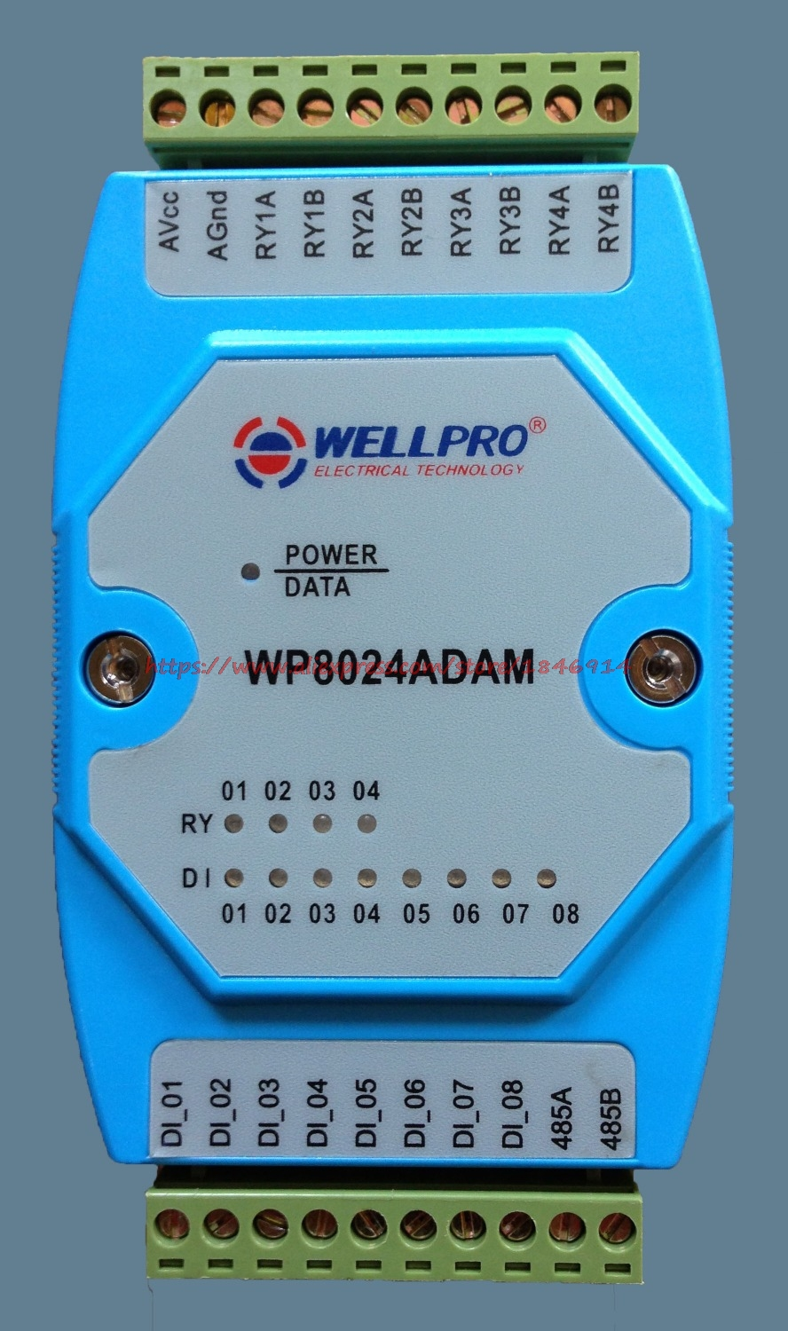 Digital Input/output Module  Isolation 8DI/4RY RS485 MODBUS Communication Can Be Computer Control