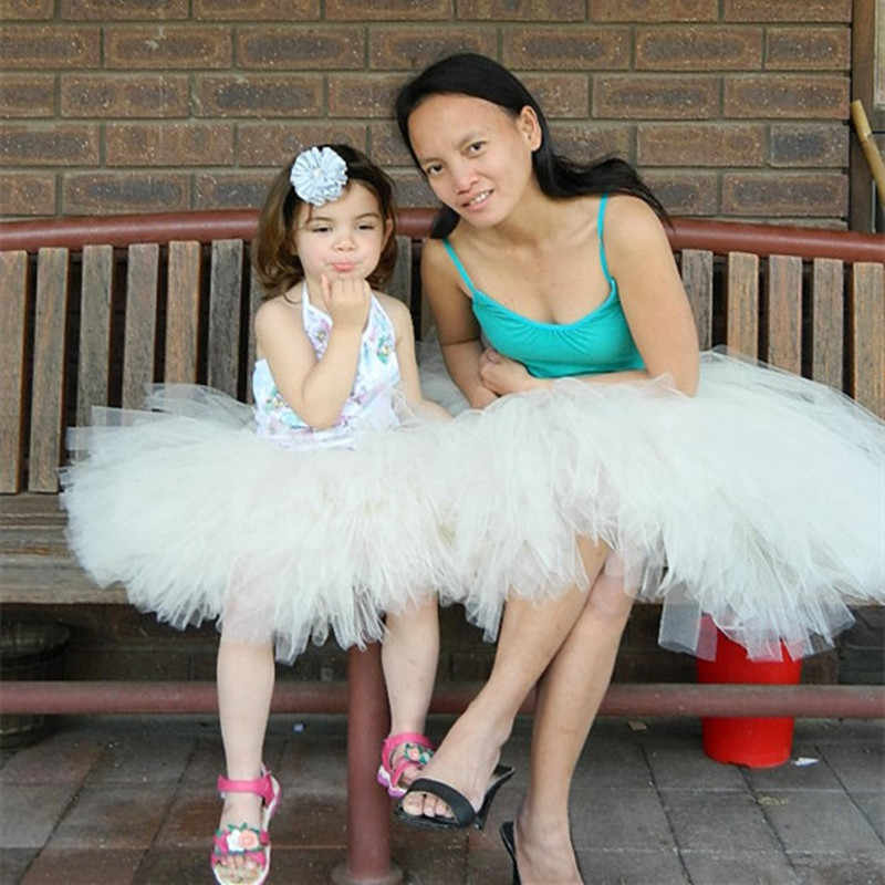 Baby Girls Mother Tutu Puff Cake Short Skirts Party Dance Parent-Child Outfit