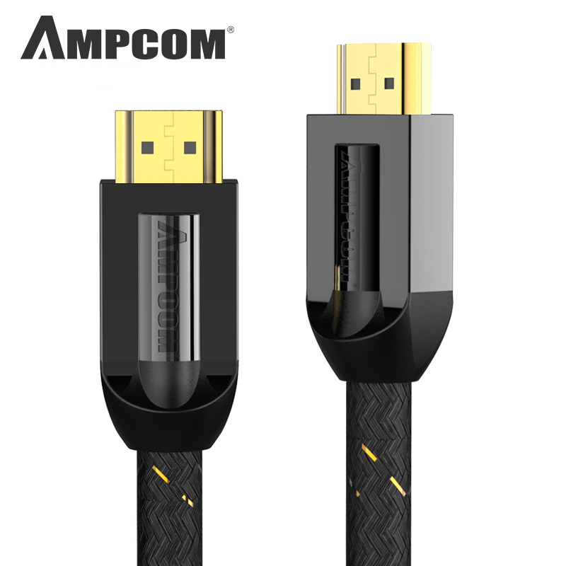 HDMI Cable HDMI 2.0a 2.0b, AMPCOM Pro Gaming 4K HDMI to HDMI 2.0 Cable Support 3D Ethernet HDR 4:4:4 for HDTV PS4 PS3 image