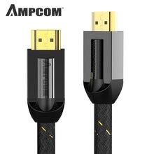 HDMI Kabel HDMI 2.0a 2.0b, AMPCOM Pro Gaming 4 K HDMI naar HDMI 2.0 Kabel Ondersteuning 3D Ethernet HDR 4:4:4 voor HDTV PS4 PS3