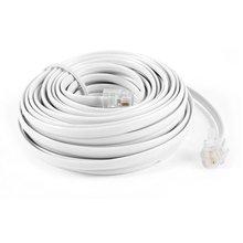 9M 30ft RJ11 6P2C Модульный Телефонный телефонный кабель провод белый