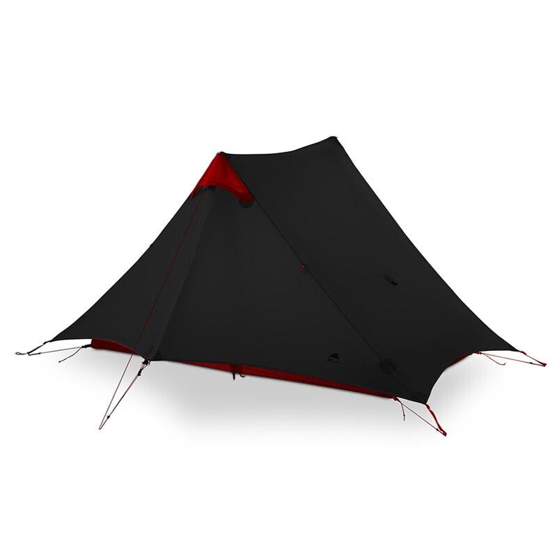 3F UL ENGRENAGEM LanShan 2 Pessoa Barraca de Camping Ultralight 3/4 Temporada Barraca de Acampamento Ao Ar Livre Equipamentos de 2019 novo preto/vermelho /branco/amarelo - 4