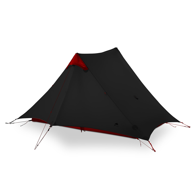 3F UL GEAR LanShan 2 personnes tente de Camping ultra léger 3/4 saison tente équipement de Camp en plein air 2019 nouveau noir/rouge/blanc/jaune - 4