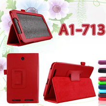 ocube Luxury 2-Folder Litchi Grain PU Protective Shell Leather Cases Cover For Acer Iconia Tab 7 A1-713 7″ Tablet