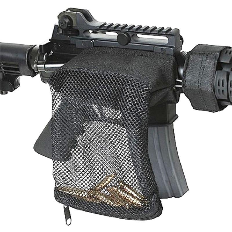 Shooting Rifle Brass Shell Bullet Catcher Bag Hunting Gear Ammo Brass Mesh Trap Shell Catcher Wrap Around Zipper Bag
