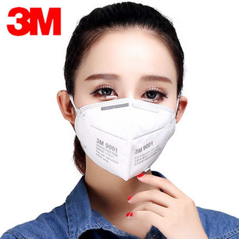 1 Pcs 3 M 9001 Kn90 Staub Masken Atemschutz Anti-staub Pm2.5 Industrielle Bau Pollen Dunst Gas Familie & Pro Website Schutz