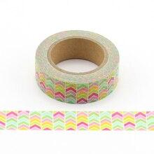 1colorful arrows Japanese Masking Washi Tape Decorative Adhesive Tape Decora Diy Scrapbooking Sticker Label Statione цена