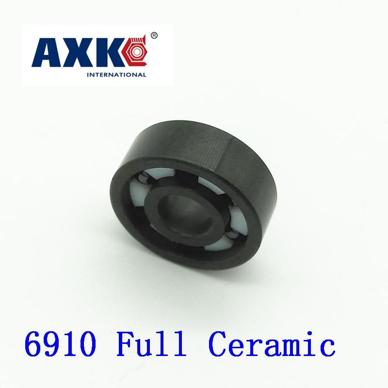 Axk 6910 Full Ceramic Bearing ( 1 Pc ) 50*72*12 Mm Si3n4 Material 6910ce All Silicon Nitride Ceramic 6910 Ball Bearings цена