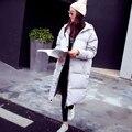 Chaqueta de invierno mujeres 2016 Nueva moda loose women fit abrigo de Pato Blanco Abajo parkas chaqueta femenina encapuchada más el tamaño