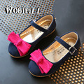WOBIPULL Girls shoes 2017spring autumn kids bow-knot princess flat dance shoes children shoes baby Spell color Suede shoes 26-30