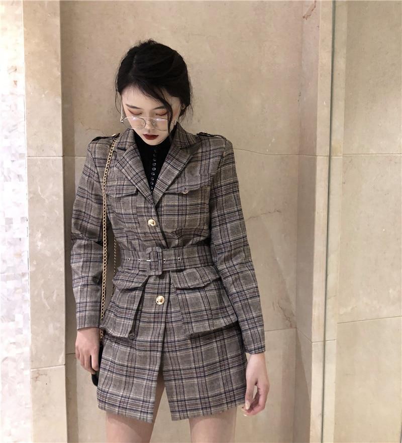 Modo Vestito Giubbotti Cintura Di Giacca Elegante Molla Autunno Nuovo Slim Stile Giacche Con Lady Multi Della Donne Europeo Office Delle wWzxqSn08g