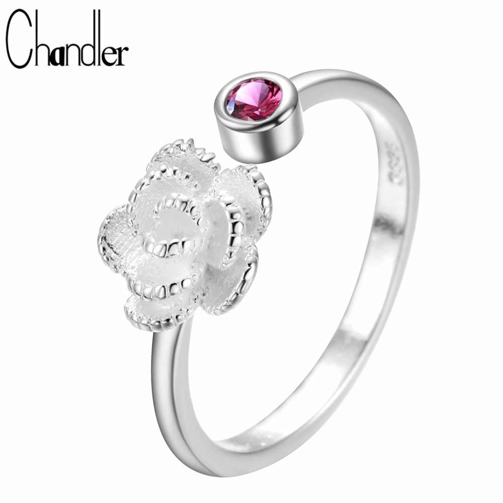 Chandler CZ Crystal Delicate Rose Flower Open Knuckle Toe Ring For Women Trendy Jewelry Flora Party Wedding Gift