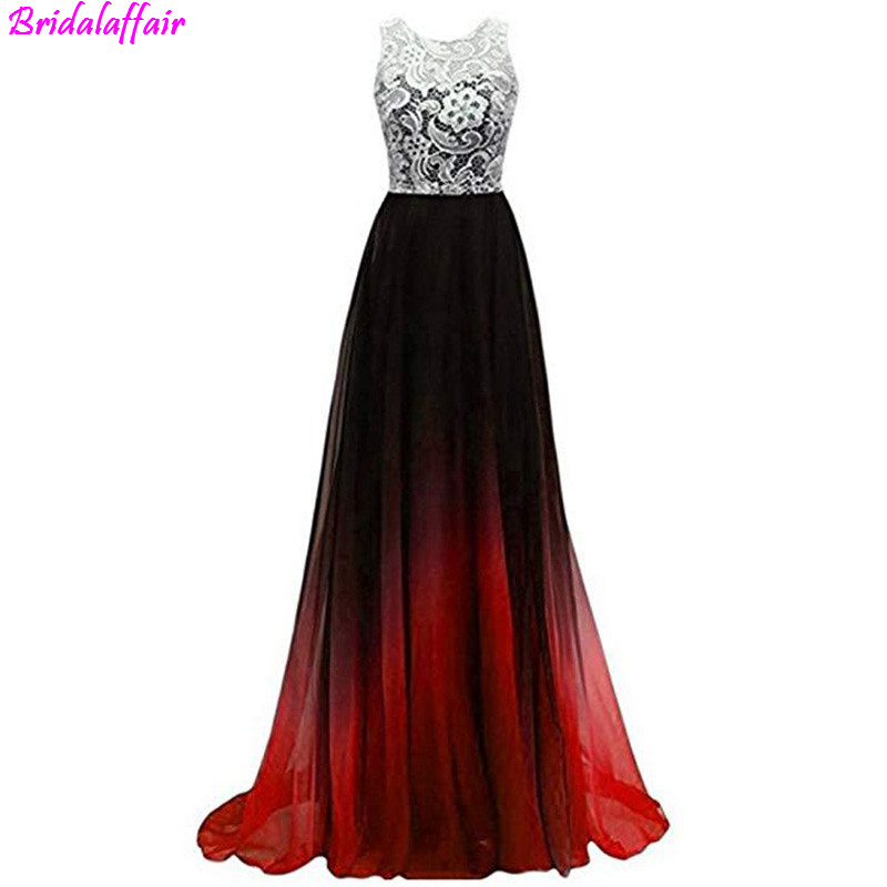 O-neck High Design Multicolor lace   Prom     Dress   2019 Back Button Sleveless Slim High Quality Evening   Dress   vestido de festa