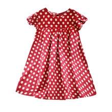 Baby Clothes Girls 2020 Vintage Polka Dot Short Sleeve Dress Children's Clothing Comfort Dress Girl Clothes Dress #LR5 split bell sleeve cut and sew polka dot dress