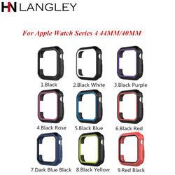 Защитный чехол силиконовый чехол для Apple Watch 4 44 мм 40 мм Резиновый Бампер рамка для iWatch 4 ультра-тонкий мягкие