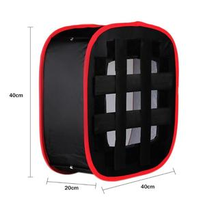 Image 3 - Portable Collapsible Softbox 4*4*2cm for Yongnuo YN600 YN900 LED Light Panel Portable Lighting Modifier for Photo Studio Softbox