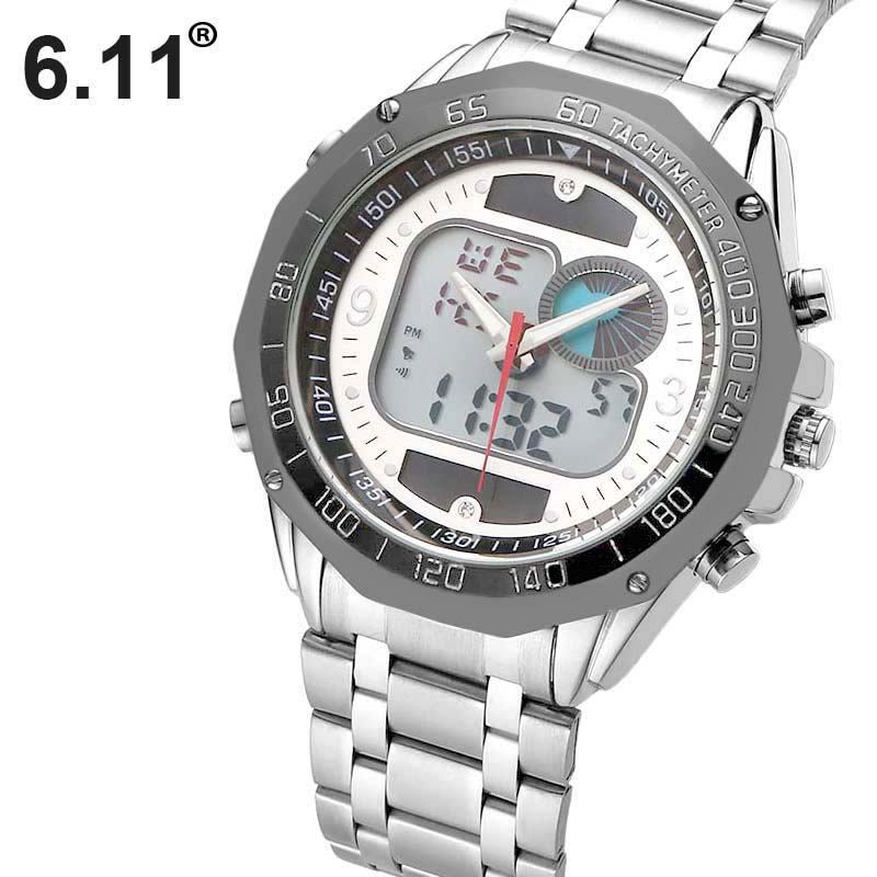 Wristwatch Mens Military-Dress Design Sports Solar Waterproof Fashion Digital LED 30M