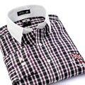 Camisa Masculina 2017 Новый Плед Человек Рубашка С Длинным Рукавом Рубашки Вскользь Рубашки