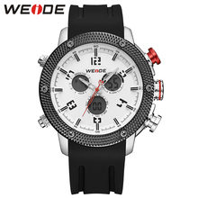 WEIDE Fashion Style Watch Men Silicone Waterproof Sports Military Watches Men's Analog Quartz Digital Watch relogio masculino