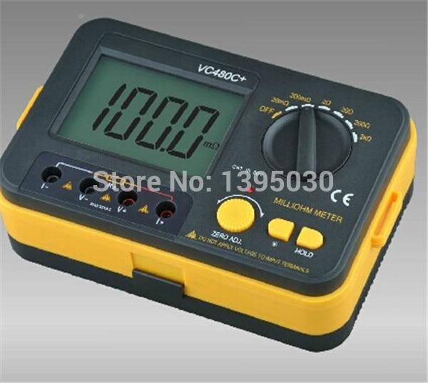 1pcs new VC480C+ 3 1/2 Digital Milli-ohm Meter multimeter 6w vichy vc480c multimeter multimetro diagnostic tool tester 3 1 2 digital milli ohm meter multimeter with 4 wire test b0243