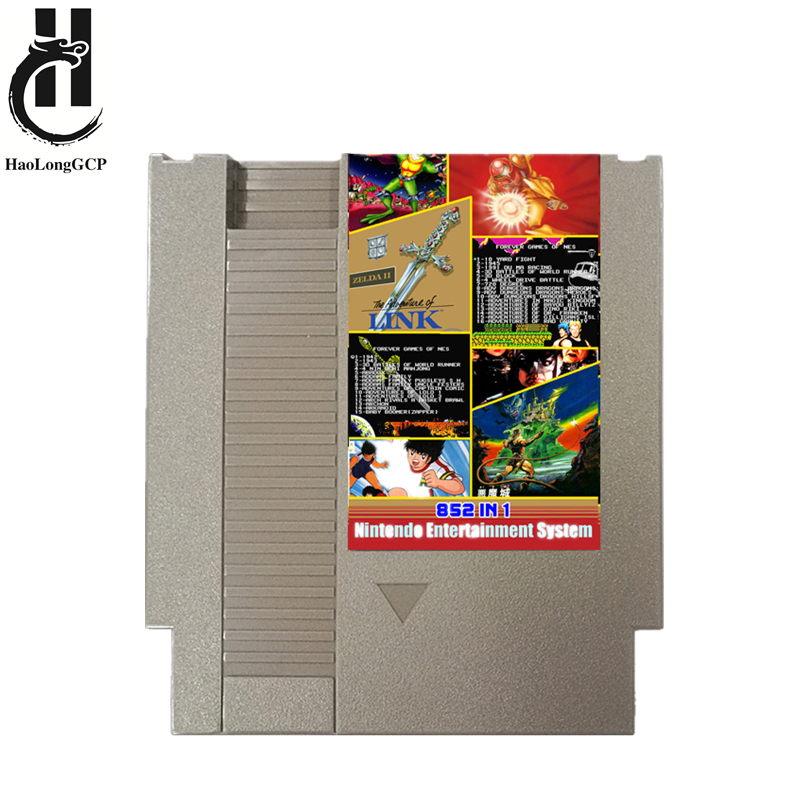 Best 852 In 1 8bit Game Card 72 Pin Game Cartridge Support Save Progress 1G Memory For 8 Bit Video Game Console