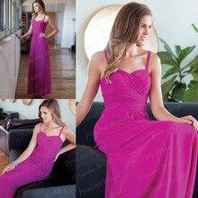 Free Shipping Sheath Sweetheart Spaghetti Strap Pleated Floor Length Chiffon Long Bridesmaid Dress Sale Online BD081