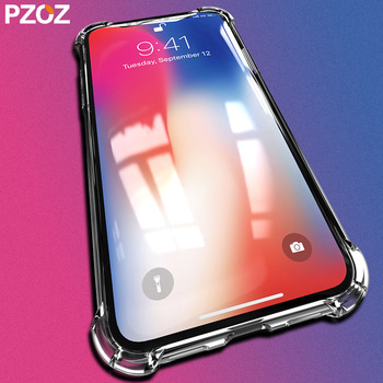 PZOZ For Apple iphone XR Xs Max 5.8 6.1 6.5 inch Case Cover Bumper 360 Shockproof Accessories Luxury Clear Silicone Housing Case iPhone XR