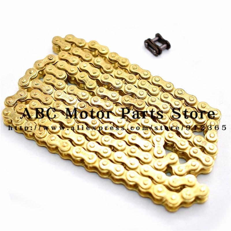 25H Chain 144 Links with 1pc Spare Master Link For 2 Stroke 47cc 49cc Engine Mini Moto Dirt ATV Pocket Bike Go Kart Gold