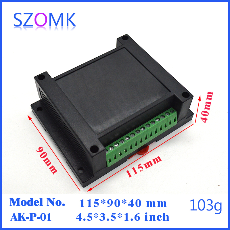 цена на szomk abs control plastic enclosure din rail box (1 pcs) 115*90*40mm plastic housing for PCB project case electronics enclosure